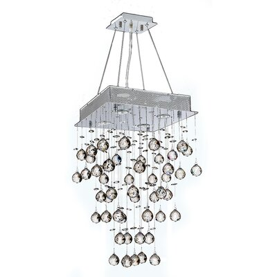 Leiker 4-Light Cluster Pendant