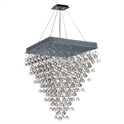 Leiker Contemporary 8-Light Crystal Chandelier