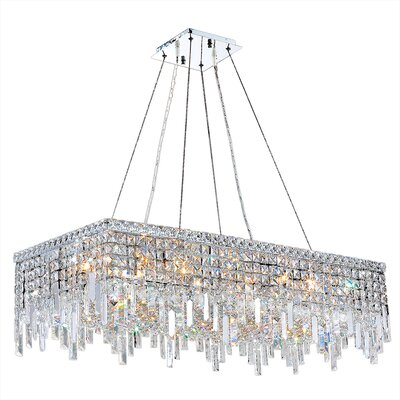 Cascade Rectangle 16-Light Kitchen Island Pendant