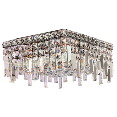 Anjali Polished Chrome 4-Light Flush Mount