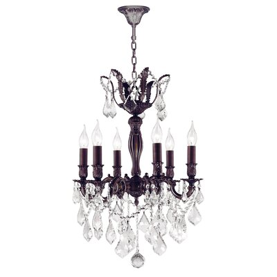 Dodson 6-Light Chain Crystal Chandelier
