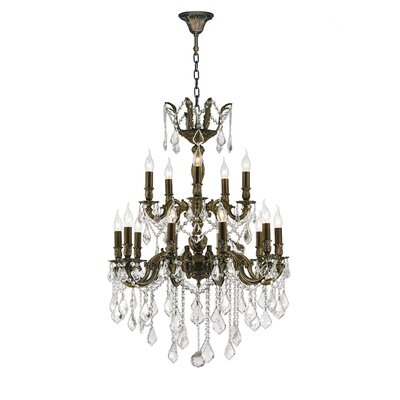 Dodson Traditional 18-Light Crystal Chandelier Size: 35 H x 24 W