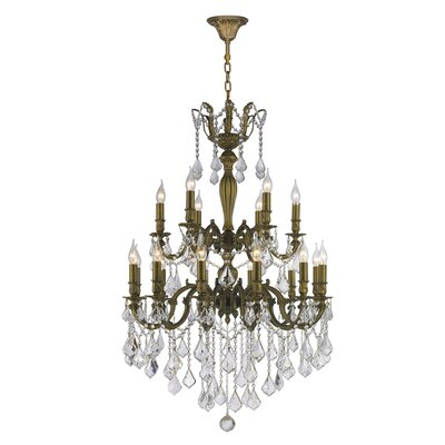 Dodson Traditional 18-Light Crystal Chandelier Size: 39 H x 30 W