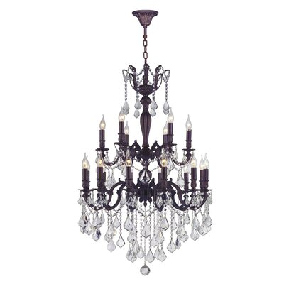 Dodson 18-Light Chain Crystal Chandelier