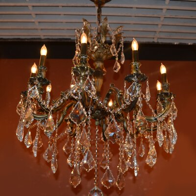 Dodson 10-Light Chain Crystal Chandelier Size: 29 H x 26 W