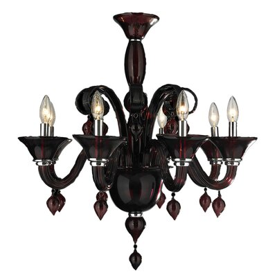 Murano 8-Light Candle-Style Chandelier