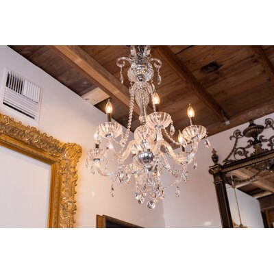 Carbajal 6-Light Glass Crystal Chandelier Crystal Color: Clear