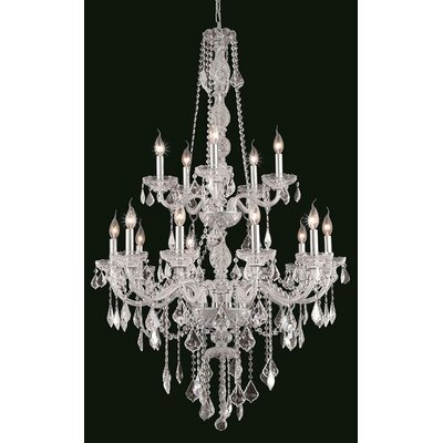 Provence 15-Light Crystal Chandelier Crystal Color: Clear
