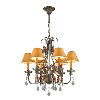 Milan 6-Light Shaded Chandelier