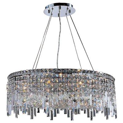 Anjali Modern 12-Light Crystal Chandelier Size: 10.5 H x 28 W x 28 D