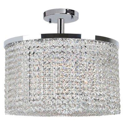 Diep Crystal String 9-Light Semi Flush Mount