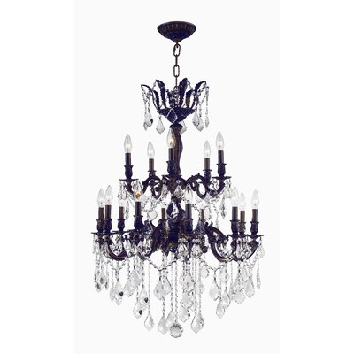 Versailles 15-Light Candle-Style Chandelier Size: 39 H x 27 W x 27 D