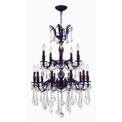 Versailles 15-Light Candle-Style Chandelier Size: 35 H x 24 W x 24 D