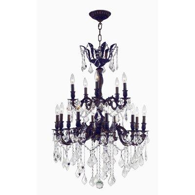 Versailles 15-Light Candle-Style Chandelier Size: 35 H x 24 W x 24 D