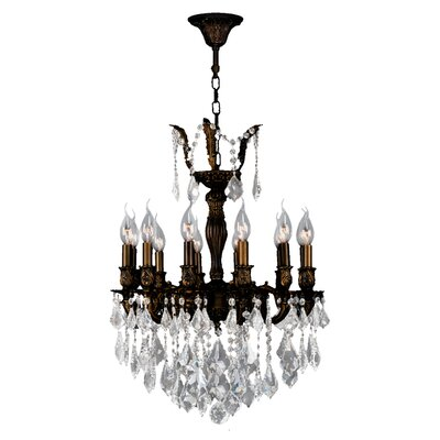 Dodson Traditional 12-Light 60W Crystal Chandelier Size: 26 H x 20 W, Finish: Flemish Brass