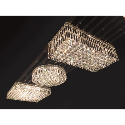 Anjali 4-Light Crystal Flush Mount