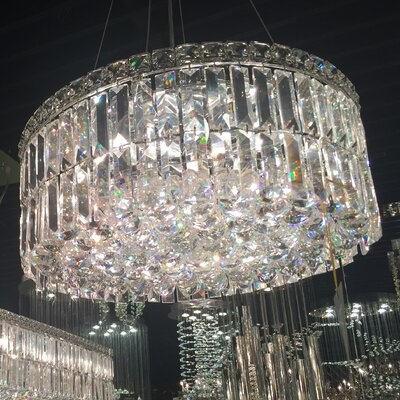 Cascade 12-Light Crystal Chandelier Size: 7.5 H x 20 W