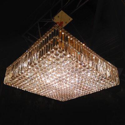 Cascade 12-Light Crystal Chandelier Size: 7.5 H x 32 L x 32 W
