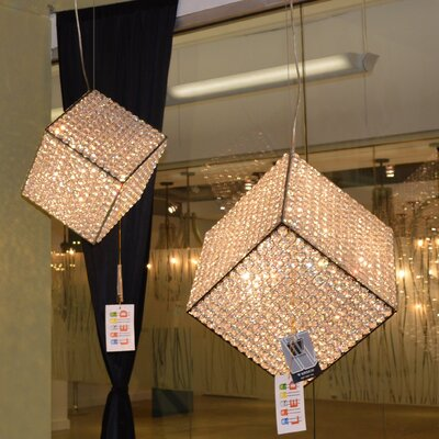 Cube 13-Light Geometric Pendant Size: 26 H x 15 W