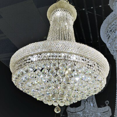 Carson 14-Light Empire Chandelier Size: 32 H x 24 W, Finish: Gold