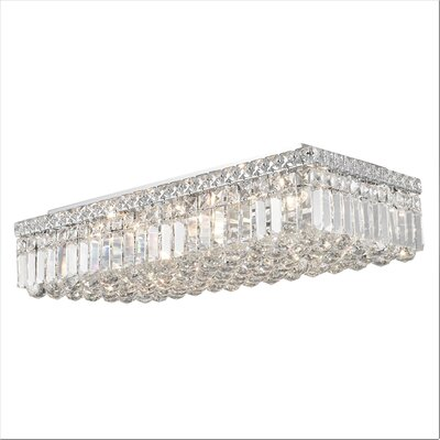 Anjali Polished Chrome 6-Light Flush Mount