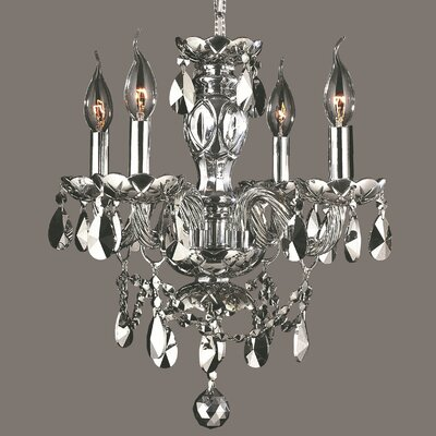Provence 4-Light Crystal Chandelier Crystal Color: Chrome