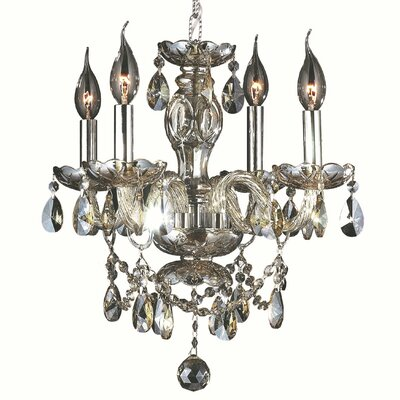Provence 4-Light Crystal Chandelier Crystal Color: Golden Teak