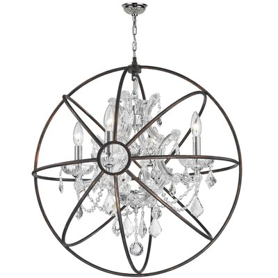 Bourke 1 Tier 4-Light Crystal Chandelier