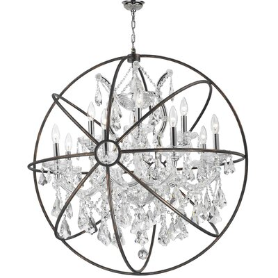 Bourke 1 Tier 13-Light Crystal Chandelier