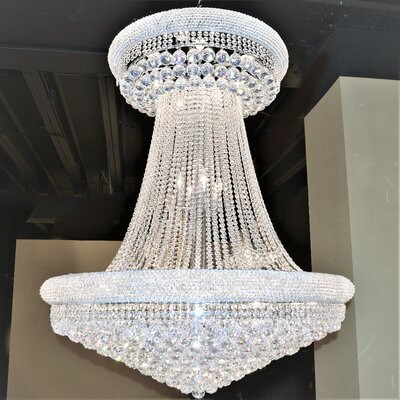 Carson 28-Light Empire Chandelier Finish: Chrome