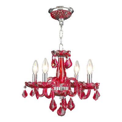 Yvette 4-Light Semi Flush Mount Finish: Strawberry