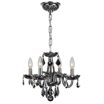 Yvette 4-Light Semi Flush Mount Finish: Chrome