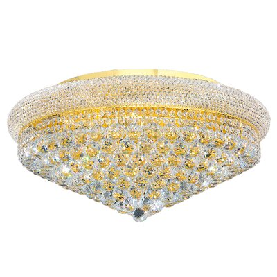 Carson 15-Light Flush Mount Finish: Gold