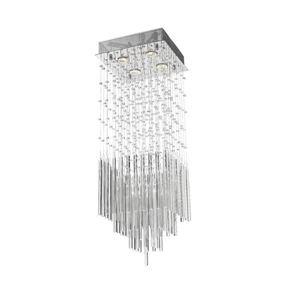 KeAndre 4-Light Halogen Waterfall Chandelier