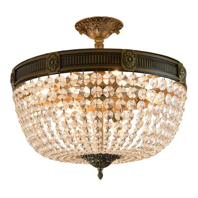 Reimer 6-Light Semi Flush Mount Color: Bronze