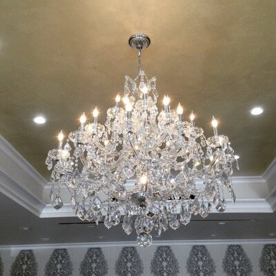 Kiazolu 28-Light Crystal Chandelier Color: Chrome