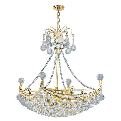 Carson 6-Light 40W Crystal Chandelier Finish: Gold