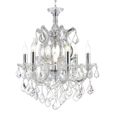Maria Theresa 7-Light Crystal Chandelier Finish: Chrome