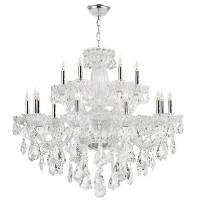 Pulaski 18-Light Crystal Chandelier