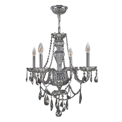 Doggett 4-Light Chain Crystal Chandelier Crystal Color: Chrome