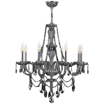 Provence 8-Light Crystal Chandelier Crystal Color: Smoke
