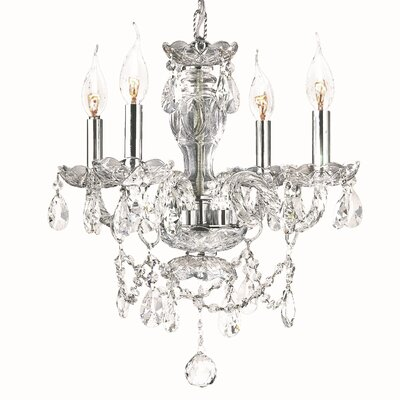 Provence 4-Light Crystal Chandelier Crystal Color: Clear