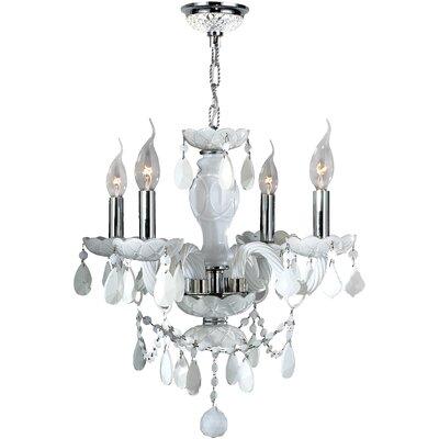 Provence 4-Light Crystal Chandelier Crystal Color: White