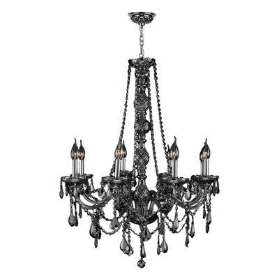 Doggett Traditional 8-Light Crystal Chandelier Crystal Color: Smoke