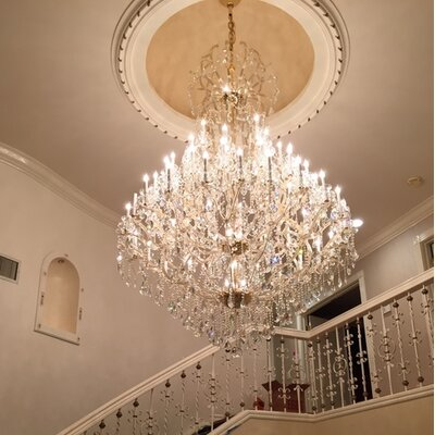 Maria Theresa 48-Light Crystal Chandelier Finish: Chrome