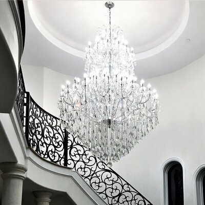 Kiazolu 84-Light Crystal Chandelier Color: Chrome