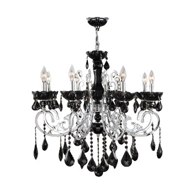 Koome 8-Light Crystal Chandelier Crystal Color: Black