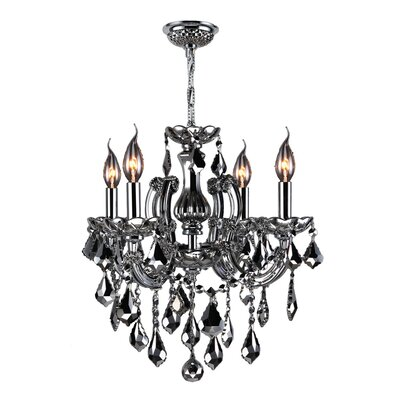 Roslyn Traditional 4-Light Crystal Chandelier Crystal Color: Chrome