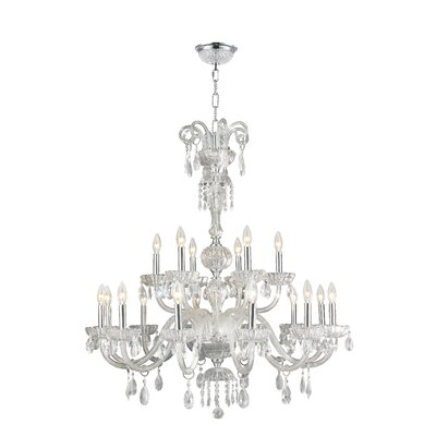 Carbajal 18-Light Crystal Chandelier Crystal Color: Clear