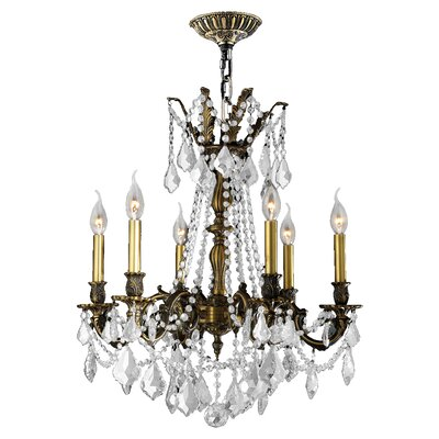 Radtke 6-Light Crystal Chandelier Crystal Color: Clear